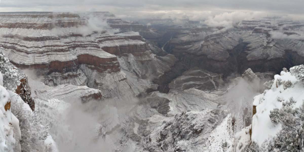 Zonas de Nieve en el Gran Cañón